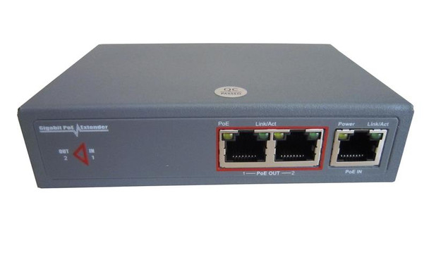 RB-EXTGE-102 Gigabit Ethernet Industrial grade PoE 100m reach extender and splitter