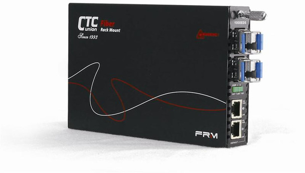 FRM220-10/100iS-2 dual channel Fast Ethernet to SFP fiber media converter, web management support