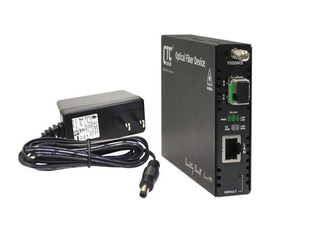FRM220-1000MS-W20B Gigabit Ethernet BiDi WDM single strand SMF media converter 1550/1310nm LC 20Km, managed with AC adapter