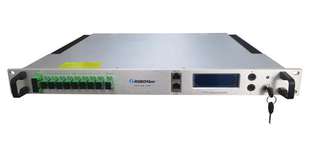 "EDFA-4429A CATV 1550nm EDFA Amplifier, 29dBm (800mW)total power, SNMP managed, 1RU 19"" rack mountable"
