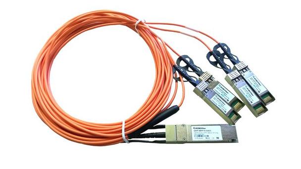 QSFP-4SFP10-03AOC - QSFP+ 40G to 4 SFP+ 10G quad fan-out active optical cable AOC 3m length