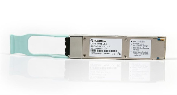 QSFP+ 40G LX4 optical module, 150m multimode OM3 and 2Km singlemode supported, CWDM 4 aggregate 10G