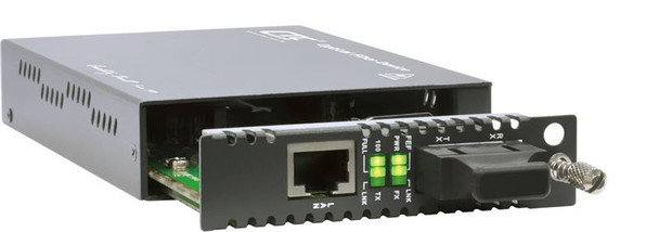 FRM220-10/100i-SC080 Fast Ethernet to SC singlemode managed fiber media converter, long-haul 80km