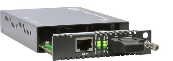 FRM220-10/100i-SC080 Fast Ethernet to SC singlemode managed fiber media converter, long-haul 80km