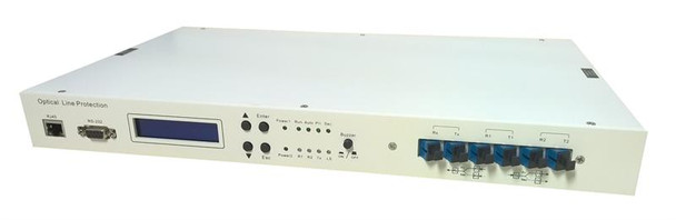 """OLPS-RM-35-AD - Optical Line Protection System 1:1 with dual power and network management options, rack 19"""", 1U"""