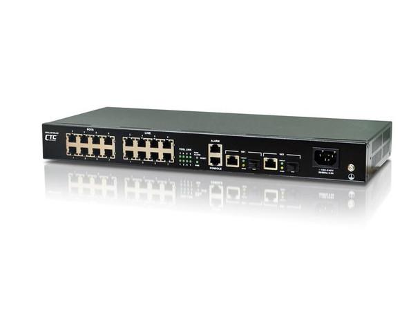 "VDSM2-1008 VDSL2 mini DSLAM 8 ports rack 19"" 1RU, 2 x 1G uplinks"