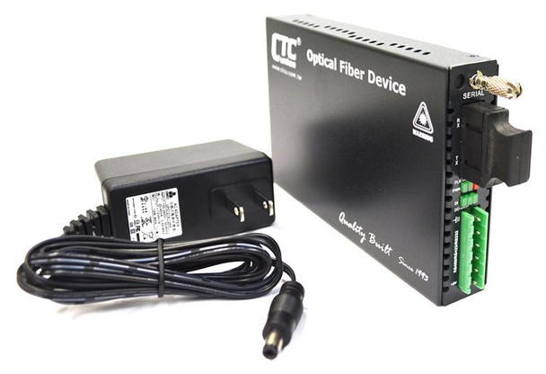 FRM220-SERIAL-SC015 - RS-232, RS-485, RS-422 over singlemode fiber media converter, 15Km, SC connector