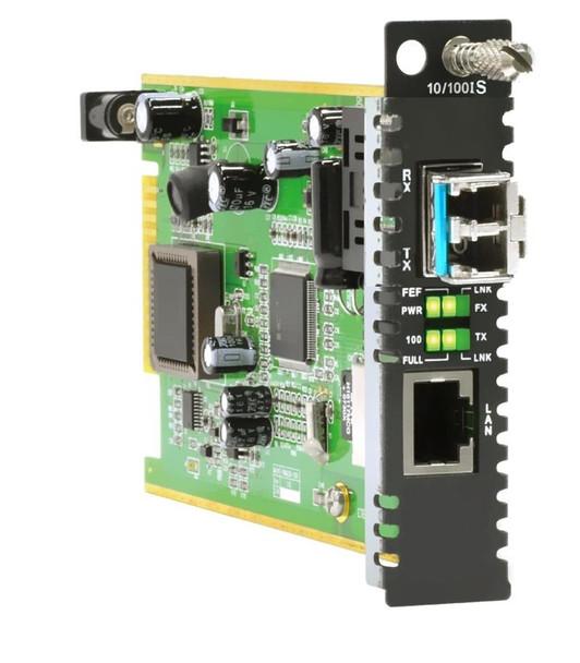 FRM220-10/100iS Fast Ethernet to 100BaseX SFP slot managed fiber media converter card