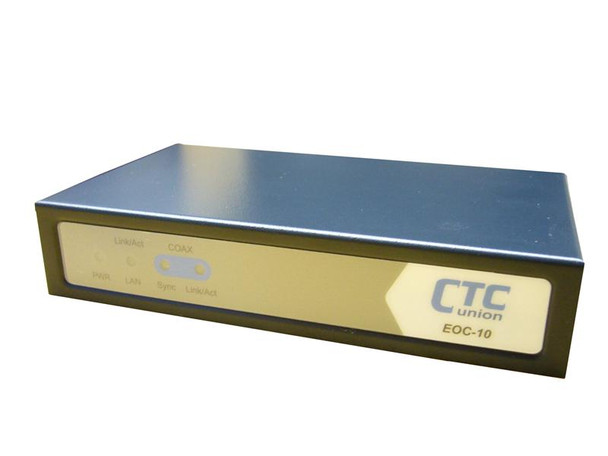 EOC-10 - Ethernet over Coax LAN Extender, up to 32 units on a coaxial segment, shares cable with CATV signal