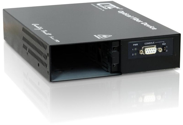 FRM220-CH02M-AA - two slot fiber chassis, redundant AC 90-240V power supplies, RS232 console port