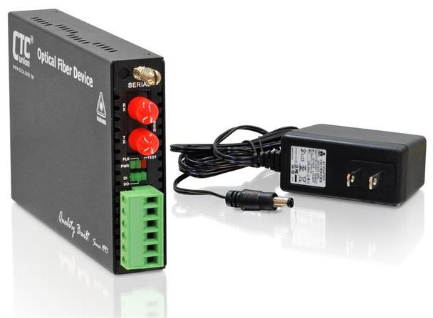 FRM220-SERIAL-ST015 - RS-232, RS-485, RS-422 over singlemode fiber media converter, 15Km, ST connectors