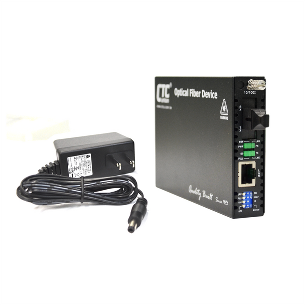 FRM220-10/100i-SC20B Fast Ethernet WDM BiDi single strand singlemode managed fiber media converter, 20Km B type