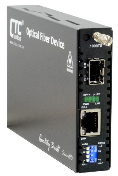 FRM220-1000TS Gigabit Ethernet 1000BaseT to SFP slot managed fiber media converter, Jumbo packet