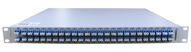 DWDM AAWG passive mux/demux filter 48 duplex channels over fiber, 100GHz spacing, ch15 to ch62, rack 19""