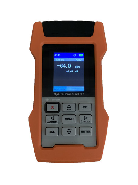 RBOPM-500 - Optical Power Meter for 850/1300/1310/1490/1550/1625nm with internal storage memory and USB connectivity - front panel