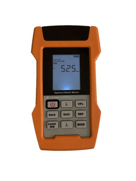 ROPMLS-810 - Optical Multimeter - Power Meter, Laser Source and VFL 10mW in one device with internal storage memory and USB connectivity - front panel