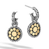 Dot Small Round Hoop Drop Earring - Silver/Gold
