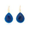 Piece Aura Earring - Gold/ Blue Agate