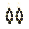 Piece Moon Dance Earring - Gold/ Black Onyx
