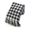 Houndstooth Throw - Black/Ivory
