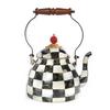Enamel Tea Kettle 2 Quart - Courtly Check