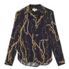 Holly Long Sleeved Blouse - Navy Multi