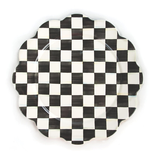 Enamel Petal Platter - Courtley Check