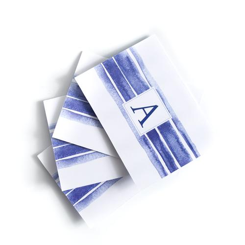 Initial Notecard Set Of 5 - Signature Stripe