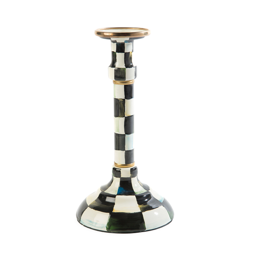 Enamel Candlestick - Mighty - Courtly Check