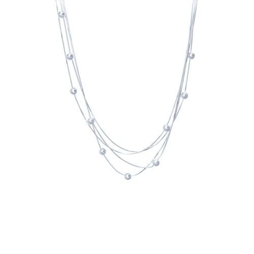 Spheres By The Inch Necklace - Silver