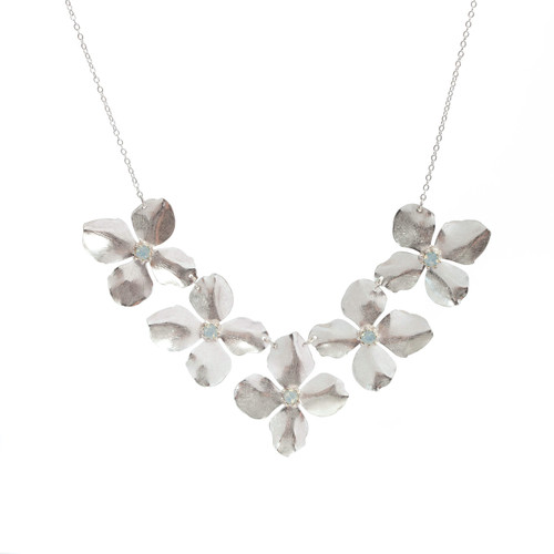 Bloom Collar Necklace - Silver