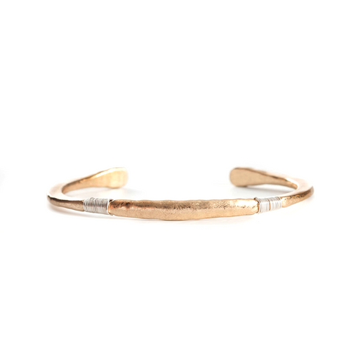 Hammered Metal Cuff - Washed Gold/ Silver