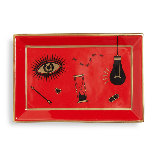 Bijoux Rectangle Tray - Red
