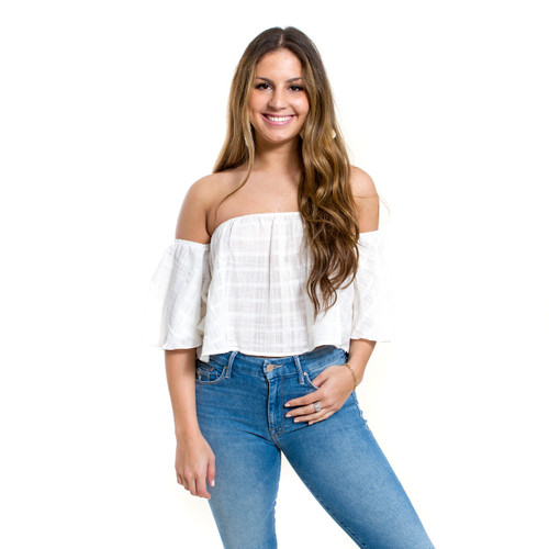 Linen Off The Shoulder Top