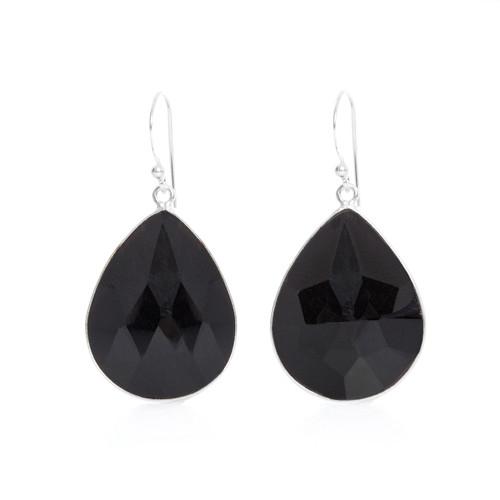 Piece Aura Earring - Silver/ Black Onyx