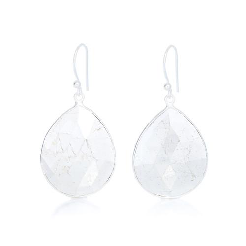 Piece Aura Earring - Silver/ Pyrite