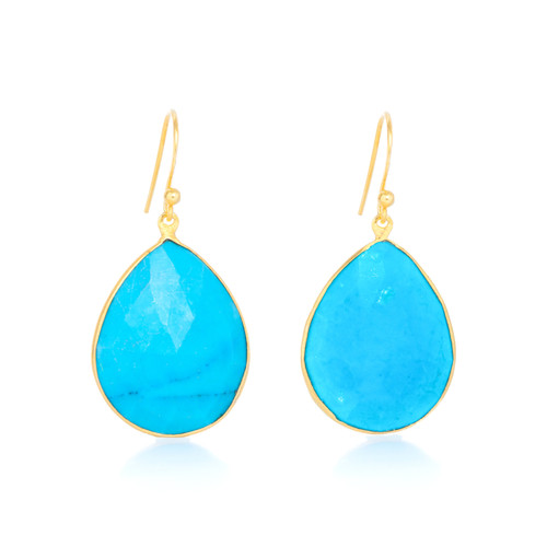 Piece Aura Earring - Gold/ Turquoise