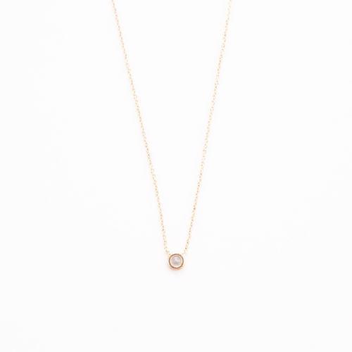 Single Stone Necklace - Silver
