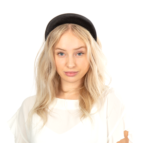 Soft Ribbed Headband - Black