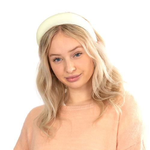 Soft Ribbed Headband - Ivory