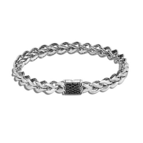 Asli Link Bracelet - Silver/ Black Sapphire
