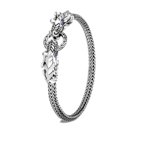 Legends Naga Double Dragon Head Bracelet - XS - Silver