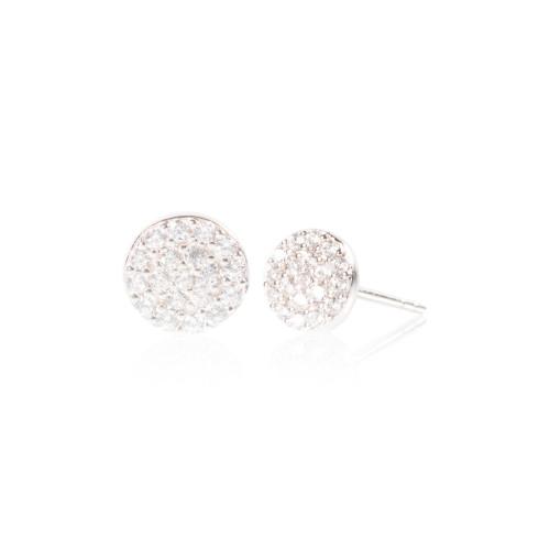 Full Moon Earring - Silver