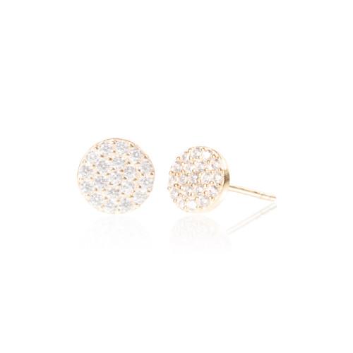 Full Moon Earring - Gold