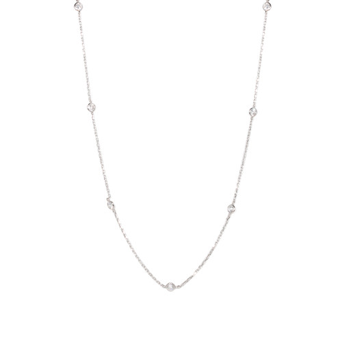 """18"""" Aura Station Necklace - Silver"""