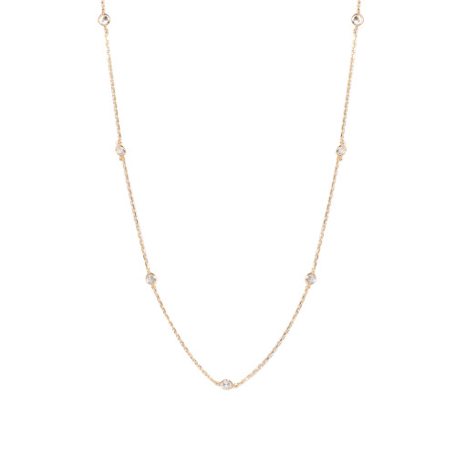 "18"" Aura Station Necklace - Gold"