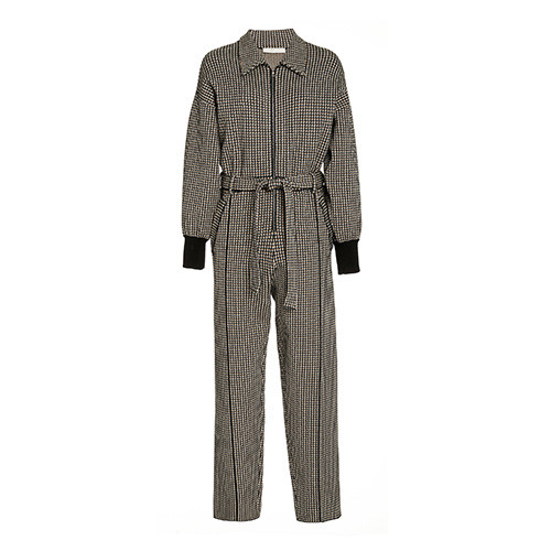 Annabelle Compact Knit Belted Jumpsuit