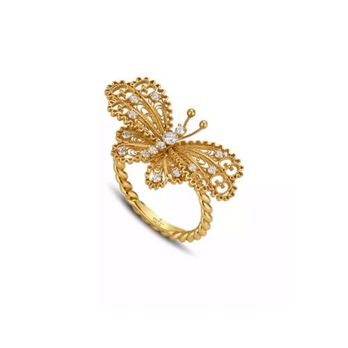 Le Marché des Merveilles Diamond Butterfly Ring
