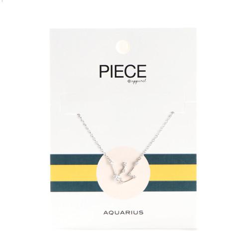 Aquarius Constellation Necklace - Silver