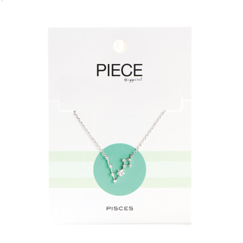 Pisces Constellation Necklace - Silver